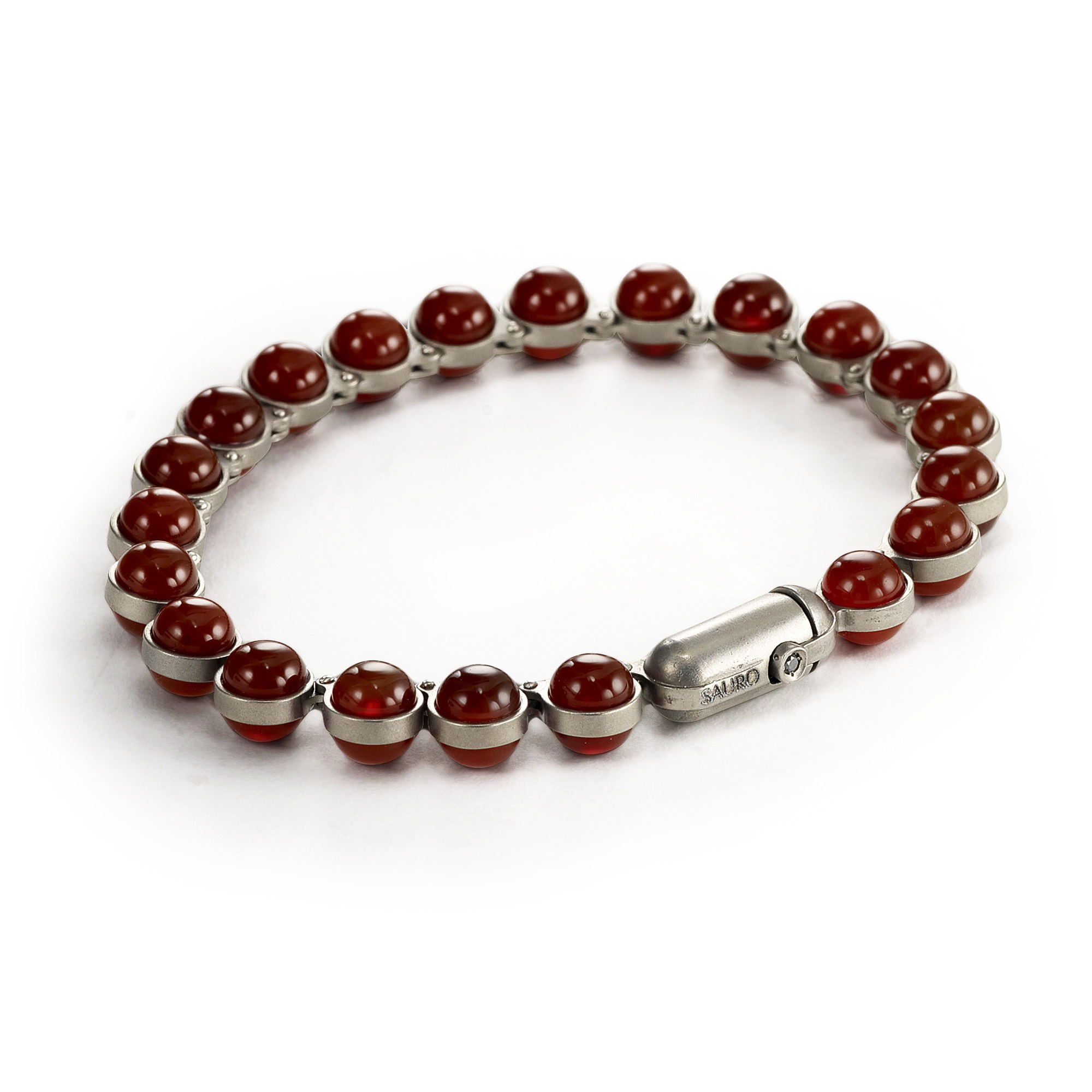 beaded bracelet jewelry with pyrite garnet red felisa design products