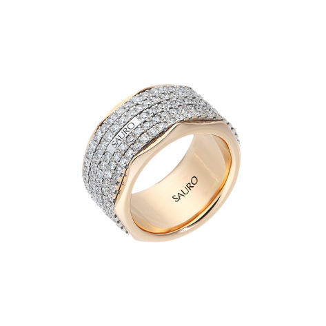 Rotante Octagonal Diamond Ring