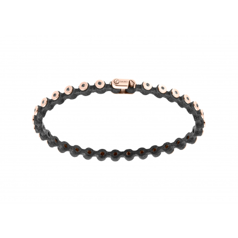 Thin Leather Diamond Bracelet 363
