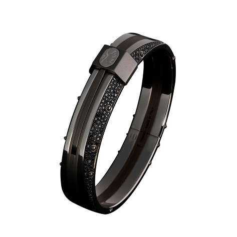 Eclisse Titanium Diamond Bangle 302