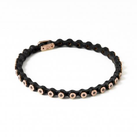 Thin Leather Diamond Bracelet 363