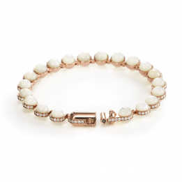 Minisphera Diamonds White Mother of Pearl Bracelet 358