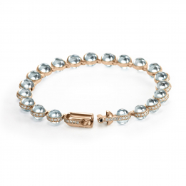 Minisphera Diamonds Blue Topaz Bracelet 358