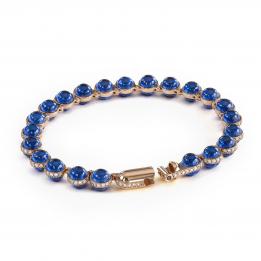 Minisphera Blue Sapphire White Diamonds