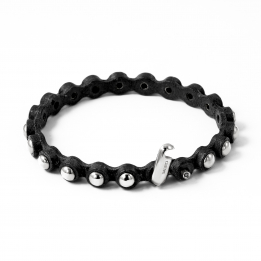 Big Leather Silver Bracelet 366