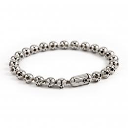 Pirata Silver Skull Bracelet