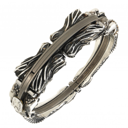 Arpione Titanium Silver Bangle Dragone